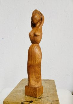 Female form woodcarving